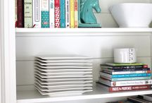 Home - bookshelf styling
