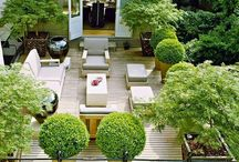 Courtyards and terraces / inspiration for our new garden terrace