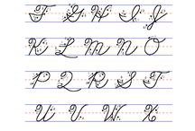 Handwriting or cursive