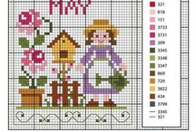 Days of the Month - Cross Stitch Freebies