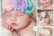 bebé flores y moños