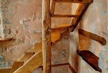 scale chiocciola legno