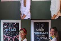 Pregnancy and Baby Milestones / Ideas for recording the important pregnancy and baby milestones