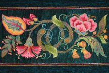 Hooked on Hooked Rugs! / In honor of my artist-grandmother, Gladys Wright, who hooked many a rug. How I'd love to have even one, today. / by Claudia Pierce