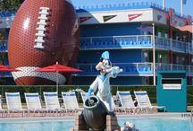 Disney's All-Star Resorts / Photos and information about Disney's All-Star Movies Resort, Disney's All-Star Music Resort, and Disney's All-Star Sports Resorts.  These were the original three value resorts at Disney World.