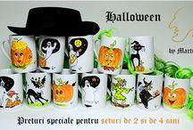 Halloween hand painted mugs  / visit https://www.facebook.com/MartinArt.Ro and https://www.cadouripromotionale.eu