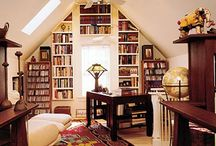 Attic Library/Writing Nook / The dream writing space of award-winning young adult/teen fantasy author Valerie Biel.