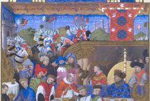 Limbourg brothers/ gebr van Limburg / miniaturen van de gebroeders van Limburg in diverse getijdenboeken, o.a. Duc de Berry