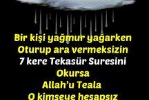 yağmurda dua
