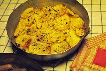 razza al forno con patate
