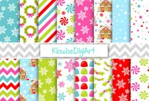 Digital Papers Holiday / Here I am sharing my patterns I have created