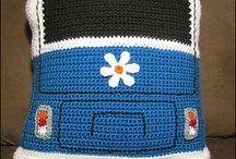 Crochet Blankets, pillows etc