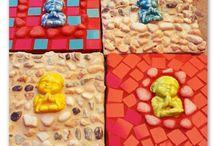 Navidad  / Adornos ideas y regalos para navidad, realizados con la técnica del mosaico.