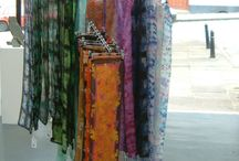 My Silk and Fabric Painting / Hand Painted, Stamped and Dyed Fabrics and Silks - Ties, Shawls, Cushions, Clothes.