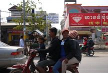 People on motorbikes in Asia