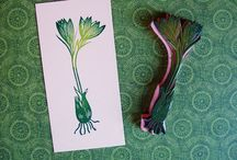 Stamps vegetables fruits