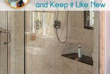 cleaning glass shower doors