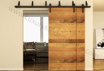 BYPASS Sliding WOOD Barn Door Hardware / BYPASS Sliding WOOD Barn Door Hardware