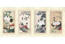 Papier peint Tapisserie d'artiste asiatique
