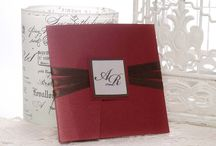 Lucy Red / wedding invitation by Erika Velsicz