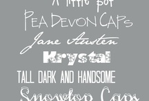 Fonts/Typeography / by Tracie O'Brien
