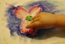Art for homeschool / Eenvoudige kunstopdrachten voor TO.