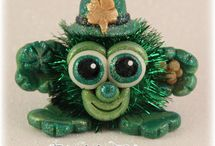 FuzzyKims St. Patrick's Day / Cute Collectible Whimsical Polymer Clay FuzzyKims that come in a handmade gift box along with an adoption certificate. These are available on my website.  Visit my website at: http://www.kimmiesclaykreations.com  FuzzyKims©, are COPYRIGHTED by Kimmie's Clay Kreations®, 2017. All images, rights, colors, designs, concept, and intellectual property belong solely to the owner of Kimmie's Clay Kreations.