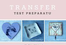 Transfer w decoupage / Transfer to jedna z metod przenoszenia wzoru na zdobioną powierzchnię. Oto projekty stworzone w ten sposób.