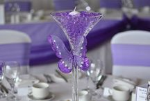 lilac and silver wedding decoration ideas
