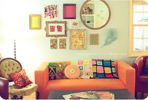 Accent Walls / Vintage finds for wall displays