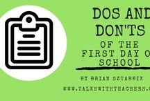 The Start of School / 1st day lessons, back-to-school ideas, and resources to start the school year.