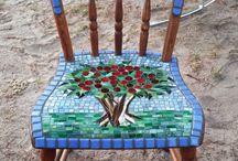 ideas mosaico / mosaicps sillas y otros