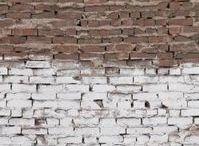 Painted brick walls