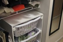 Ideas for closet hampers / Ideas for walk-in closet