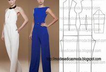 Wykroje - spodnie - kobieta