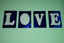 letrero de Love