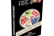 E-sigarett | Smak av frukt / Ønsker du en fruktig smak på e-sigaretten, kan du velge mellom smak av eple, jordbær eller blåbær, eller en kombinasjon av disse.