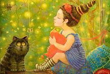 Vintage Illustrations-wall and book / So detailed and colorful / by Blossom Morris
