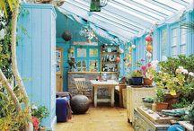 House - Kitchen & Dining Area Inspiration / sunroom ideas, breakfast room, kitchen renovation work.