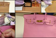 Hermes Handbags / Photos of stained, damaged, torn, dirty and worn out Hermes handbags, bags and purses that we have lovingly cleaned and restored.
