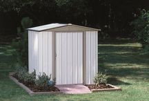 Arrow Sentry Shed- SY65 / With a quick install assembly that cuts the time down from any other Arrow Shed of similar size the Sentry 6' x 5' shed is an economical storage solution.  Swing Door and Eggshell & Taupe aesthetics make this a welcome addition to any backyard