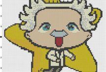 Famous people cross stitch