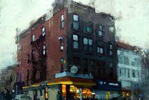 Peintures des villes