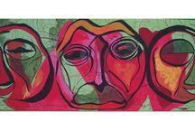 Calin-Uricaru Luxandra / Textile Art Deco- artă serigrafică