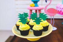 pineapple flamingo birthday party