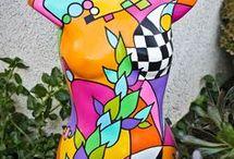 Painted Torsos.
