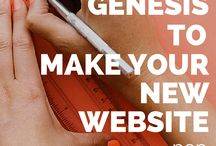 blogging : genesis / All of the websites I build are on the Genesis framework (by StudioPress), so I've started compiling links to Genesis tutorials.  / by Sandee Jackson