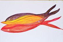 Aquarelando / Meus estudos com aquarelas e formas