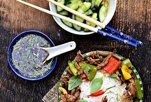 Wołowiną w sosie ostrygowym z tajską bazylią