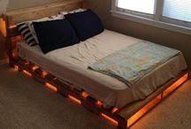 camas y alcobas con palet
